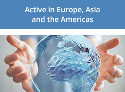 Active in Europe, Asia and the Americas