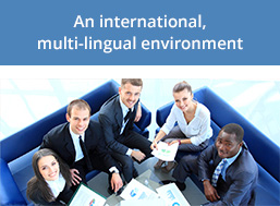 An international, multi-lingual environment